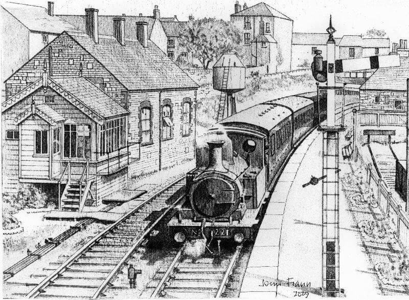 Hintock Branch Where it all Began - Easton Line Drawing